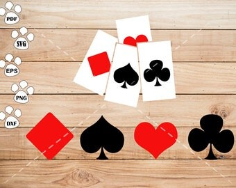 Poker SVG Files, Poker Clipart, cricut, cameo, silhouette cut files commercial & personal use