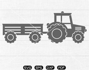 Tractor SVG File, Tractor Clipart, cricut, cameo, silhouette cut files commercial & personal use