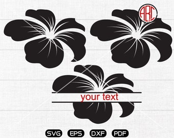 Flower Svg, flower Clipart, Monogram Frame cricut, cameo, silhouette cut files commercial & personal use