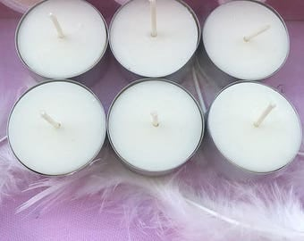 6 candles tealight soy vegetable wax