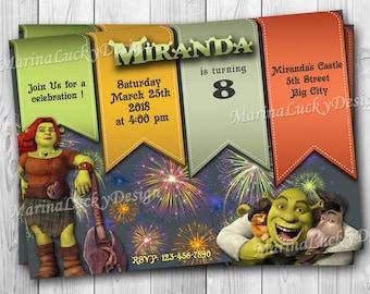 Shrek invitation etsy stopboris Gallery