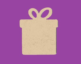 Blank MDF gift-wrapped medium support