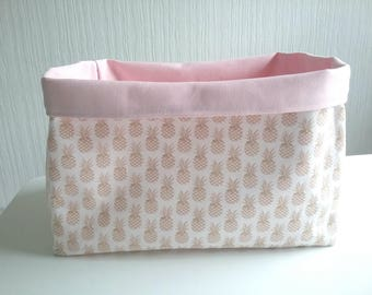 Brass pineapple diaper basket