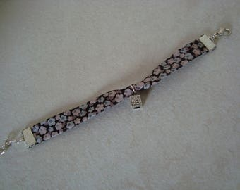 Liberty grey charm bracelet with cube