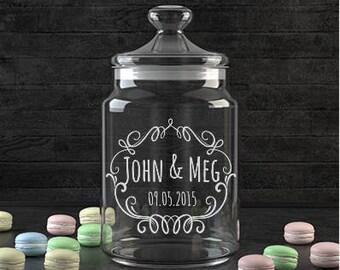 Custom wedding jar