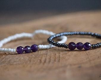 Natural Amethyst stone bracelet