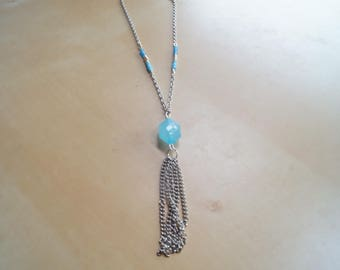Necklace Bead and chain tassel