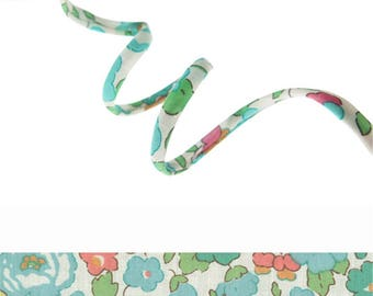 Cord Liberty Betsy D x 50 cm, Liberty Tana Lawn for bracelet, jewelry, sewing...