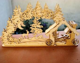 Decorative scene ironworker 1574