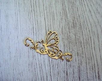 Butterfly wooden Littles 1338 embellishment