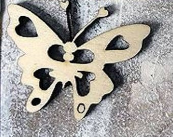 Butterfly 346 embellishment wooden creations