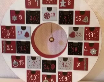 wooden advent calendar