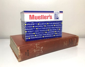 Vintage 1980 Mueller Recipe Tin