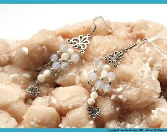 """""""Lotus petal"""" earrings"""