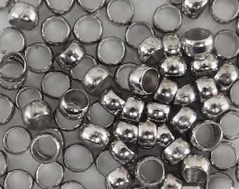 100 crimp Platinum color 4 mm paec26 beads