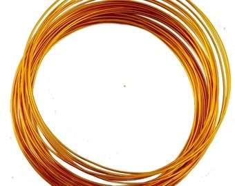 Roll scroll wire 10 meters of aluminum wire with 1 mm yellow orange