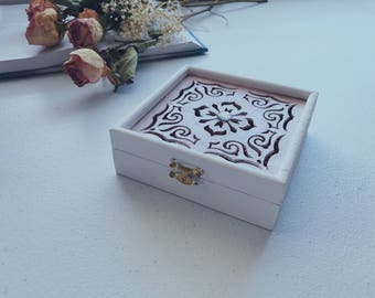 Keepsake Medallion Pattern Prayer Box Set with Pen & Paper [Hallowed Hearts] [Gifts Set, Birthdays, Mothers Day, Holidays]
