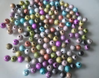 20 mixed glitter spacer 6 mm acrylic beads