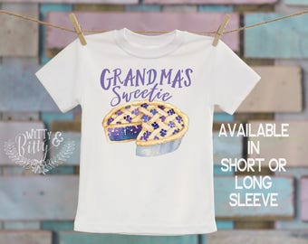 Grandma's Sweetie Pie Kids Shirt, Food Theme Shirt, Gifts from Grandma, Cute Kids Shirt, Funny Kids Tee, Boho Kids Shirt - T155G