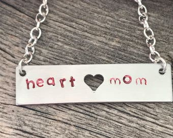 Heart Mom, personalized necklace!