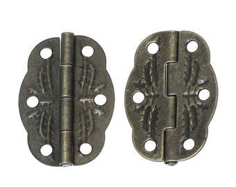 ACC43 - Set of 2 door hinges bronze 30x12mm