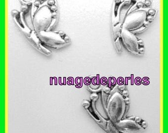 3 Tibetan Silver Bow Butterfly pendant charms