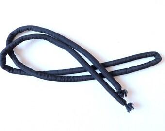 Japanese Vintage Marukuge Cord Black for Kimono Obi M52