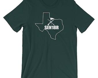 Texas Color Guard 2018 Shirt, Graduating Senior 2018 Color Guard, Texas State ColorGuard Shirt, SEN18R Color Guard Gift