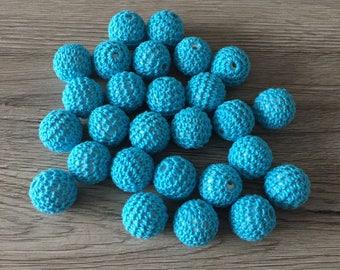 Crochet bead acrylic 20mm - TURQUOISE