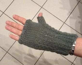 Made by hand and knit mittens