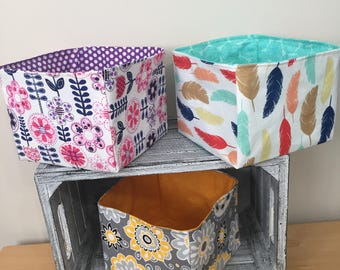 Fabric baskets!