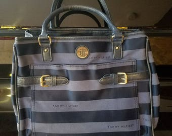 Tommy Hilfiger black and grey bag 9/10