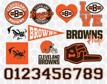 Cleveland Browns SVG, Cleveland Browns Files, Instant Download Football Files, Cricut, Cameo, Vinyl Machine, DXF EPS png jpg pdf - 022