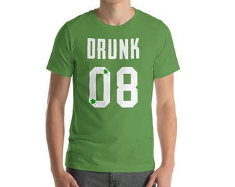 Drunk 08 - St. Patrick's Day - St Patricks Day tee - St Patricks outfit - Dog shirt - St Patricks clothes - Irish shirt