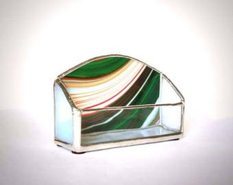 Stained Glass Business Card Holder- Custom made!