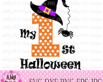 1st Halloween Cut File svg,png,dxf and eps file for the Cutting Machines