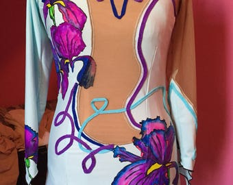 Hand painted convertible dress.