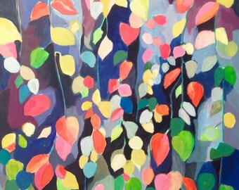 "Original art, titled ""Cascading Leaves"""