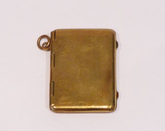 Stamp box mounted charm Vintage