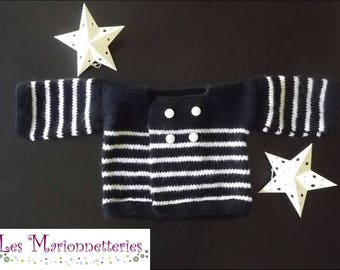 Vest sailor baby (3 months) knitted by hand