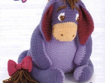 Eeyore Soft Toy, Crochet Pattern. Instant Download.