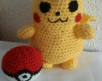 Pikachu and pokeball