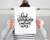Bathroom Funny Art | Bathroom Funny Decor | Funny Bathroom Sign | Hope Everything Comes Out Okay | Funny Bathroom Print | Printable Bathroom