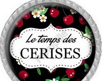 Cabochon pendant - The temps des cerises (598)
