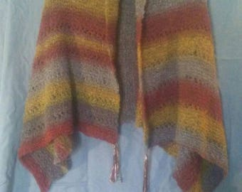 Autumn colored poncho