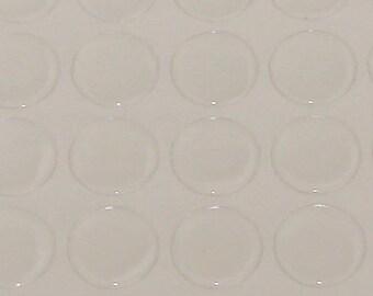 10 cabochons 20 mm resin transparent