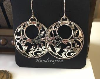 Handmade Sterling Silver Hoops