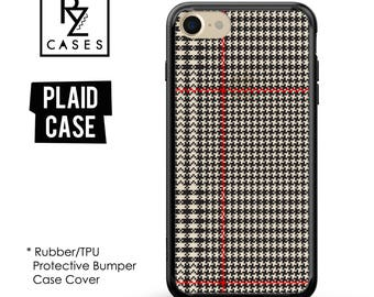Plaid Phone Case, iPhone 7 Case, Plaid iphone Case, iPhone 6S, Tartan Phone Case, iPhone 6, iPhone 7 Plus, Rubber Case, Bumper Case