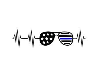 Blue line svg Blue Lives Matter svg Thin Blue Line svg Police Officer svg American Flag svg Police SVG Police SVG Instant Download svg dxf
