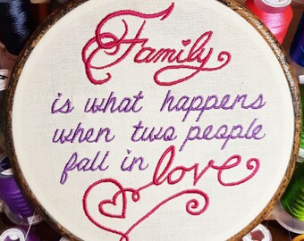 Embroidered Hoop Family is What Happens When Two People Fall in Love